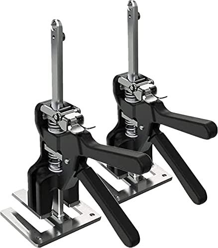Ghongrm 2PCS ARM HERRA HERRAMIENTA HERRAMIENTO JACK-TRABAJO: Brazo de ahorro de mano de obra, Jack de gabinete de elevación de la placa, fácil de usar, herramienta de instalación de control de aleació
