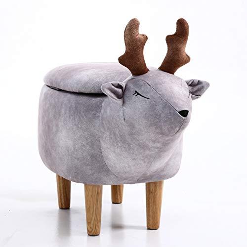 PLL The Deer verandert de voetenbank, draagt de voetenbank, betreedt de deur de lage barkruk Dierlijke planken De voetenbank 3
