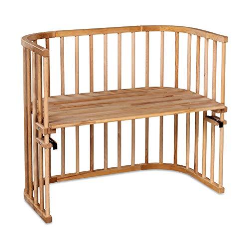 babybay Maxi extra großes Beistellbett aus massivem Buchenholz I Kinderbett Höhe stufenlos verstellbar & umweltfreundlich I mitwachsendes Babybett, Kernbuche geölt