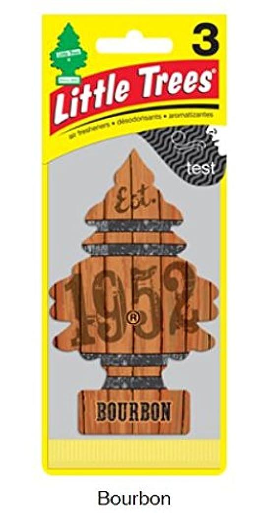 バルコニー日常的にブロックLittle Trees 吊下げタイプ エアーフレッシュナー Bourbon 3枚セット(3P) U3S-32975