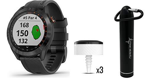 Review Garmin Approach S40 GPS Golf Smartwatch with Included Wearable4U Powerbank 2000 mAh Bundle (B...