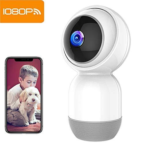 Cámara de Seguridad Mibao Cámara IP inalámbrica 1080P Cámara WiFi con visión Nocturna HD, grabación de Video, vigilancia remota, detección de Movimiento,Alarma de App, Audio bidireccional