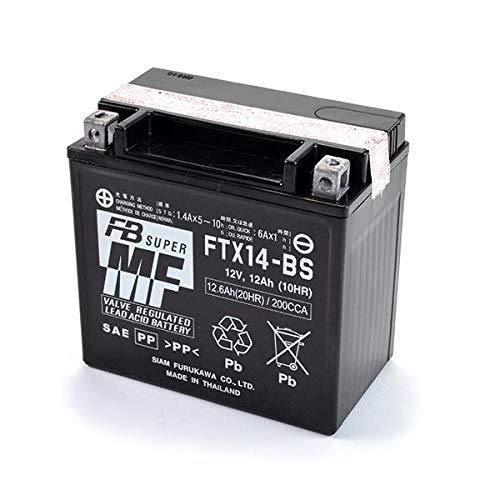FB Battery - Batteria Moto Scooter FTX14-BS per Piaggio MP3 - Guzzi V7 (YTX14-BS)