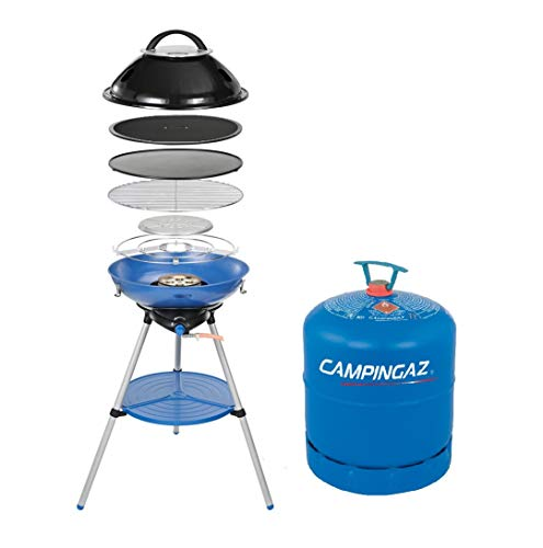 Campingaz Party Grill 600 Stove + Free R907 Empty Cylinder Blue