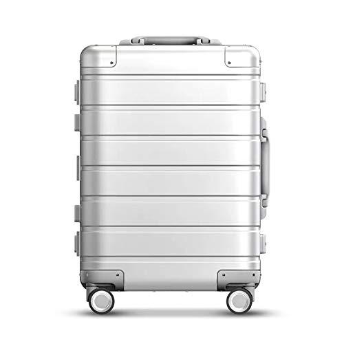 SFBBBO luggage suitcase 100% aluminium cabin suitcase organizer spinner hand luggage 20' silver