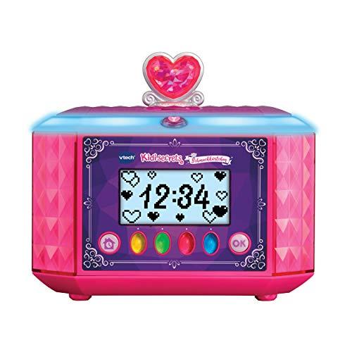 Vtech 80-529904 Kidisecrets Schmuckkästchen für Mädchen mit Geheimcode, Elektronisches Tagebuch, Musikplayer, Uhrzeit und Weckfunktion, pink