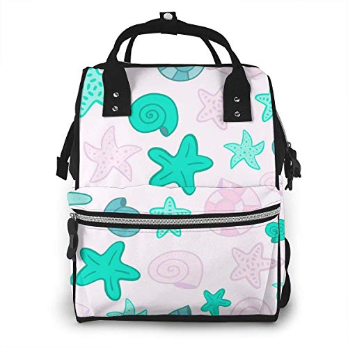 UUwant Sac à Dos à Couches pour Maman Large Capacity Diaper Backpack Travel Manager Baby Care Replacement Bag Nappy Bags Mummy BackpackMermaid Scale Seamless Pattern Vector Image