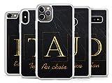 Idcasefr Coque Silicone Bumper Souple IPHONE 11 - Effet Paillette Marbre Personnalisable avec...