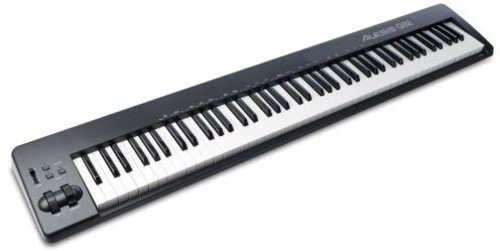 Alesis Q88 | USB MIDI Keyboard with 88 Velocity Sensitive Keys, MIDI-Output Jack, Pitch & Modulation Wheels and Production Software Included