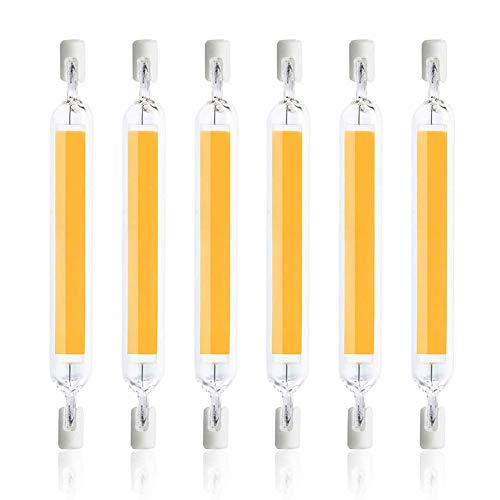 LXX R7S LED 78mm 10W Naturliches Weis, 1000LM, Ersetzt fur R7S J78 100W Halogenstab, 360-Grad-Licht, Dimmbar, Stablampe R7S 78mm COB LED fur Wandleuchte/Flurbeleuchtung, 6er-Set