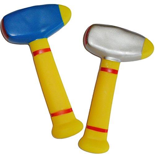 alles-meine.de GmbH Gummihammer / Softhammer - für Baby´s - Hammer weicher Babyhammer / Kinderhammer - Gummi weich Babyspielzeug Hammerspielzeug - lustiges Werkzeug / Spielwerkze..