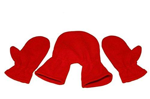 Tamiso Partnerhandschuhe/Pärchenhandschuhe rot/signalrot/feuerrot - Geschenkidee für Weihnachten, Valentinstag, Verlobung, Hochzeit