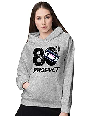 Women's 80's Product VHS Graphic Hoodie, Gray or Black