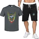 2 Piezas Camisetas y Pantalones Cortos for Hombres Traje for MV Agusta Moda Impresa Camiseta de Manga Corta y Pantalones Cortos Conjunto de Trajes de Verano (Color : D, Tamaño : M)