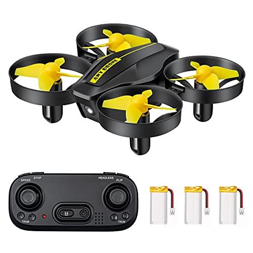 DEVASO Mini Drone per Bambini, Quadricottero RC con Telecomando, Funzione Hovering, Rotazione del Cerchio, 3D Flip, Decollo/Atterraggio a Un Tasto, Velocità Regolabile, Adatto ai Principianti (Nero)