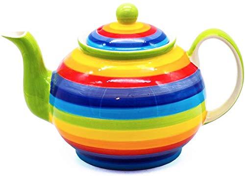 Windhorse Teekanne aus Keramik, gestreift, Größe L