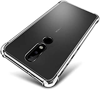 Tarkan Shock Proof Protective Soft Back Case Cover for Nokia 6.1 Plus (Transparent) [Bumper Corners with Air Cushion Technology]