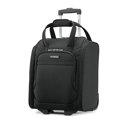 Samsonite Ascella X Softside Expandable Luggage with Spinner Wheels, Black, Underseater