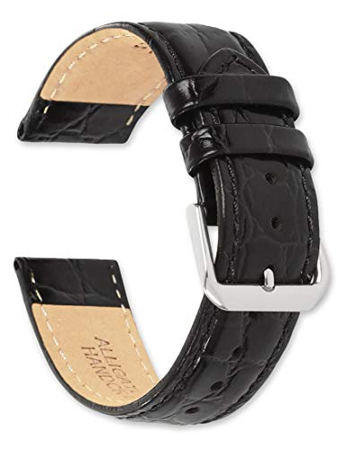 deBeer – Alligator Grain Leather Replacement Watch Band Strap – Extra Long Length – 8.75″ Long – Widths: 16mm, 18mm, 19mm, 20mm