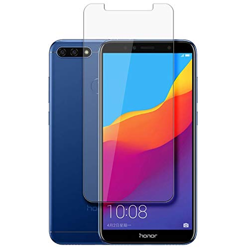 disGuard® Protector de Pantalla [Crystal Clear] compatibile con Huawei Honor 7A [2 Piezas] Cristal, Transparente, Invisible, Anti-Arañazos, Anti-Huella Dactilar - Película Protectora