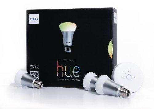 Philips 8718291241737 Hue Kit de Démarrage de 3 Ampoules LED E27 Verre Blanc 11 x 6 cm 9 W