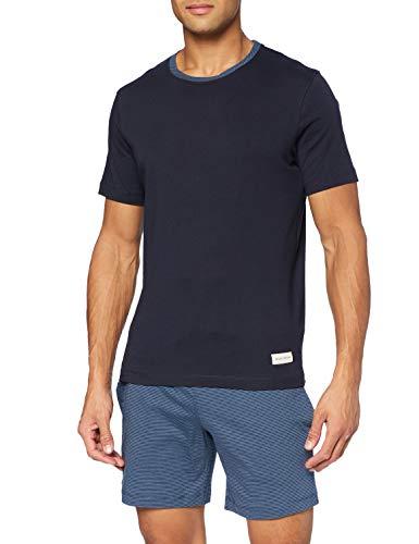 Marc O'Polo Body & Beach Herren Lounge M-LOUNGESET Crew-Neck Pyjamaset, Nachtblau, Small
