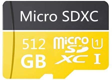 512 GB Micro SD Card de alta velocidad Class 10 SDXC con adaptador SD Free Adapter, diseñado para smartphones Android, tabletas y otros dispositivos compatibles