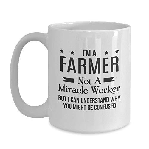N\A Regalo Divertido del Granjero - Regalo de Broma de Trabajador milagroso Taza de café con Leche para el Festival de Acción de Gracias de Navidad Regalo de Amigos
