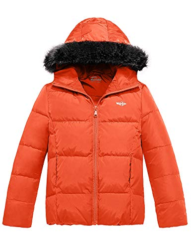 Wantdo Girl's Puffer Down Jacket Hooded Lightweight Padded Packable Winter Coat