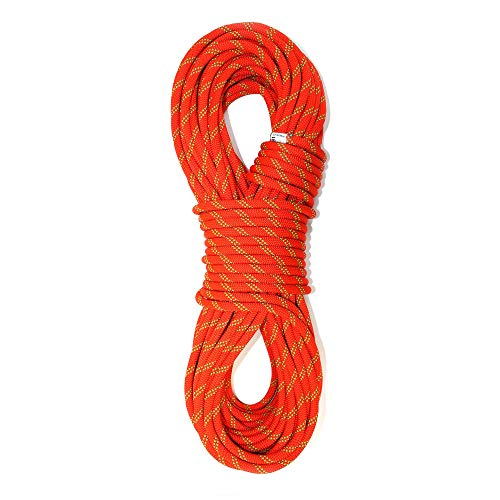 PHRIXUS Static Climbing Rope 10.5mm 11mm - 150ft 200ft 300ft Safety Nylon Kernmantle Rope for Rock Climbing, Mountaineering, Tree Climbing, Ice Climbing, Rappelling, Rescue