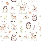 Fawn Woodland Gift Wrap Wrapping Paper - Folded Flat 30 x 20 Inch (3 Sheets)