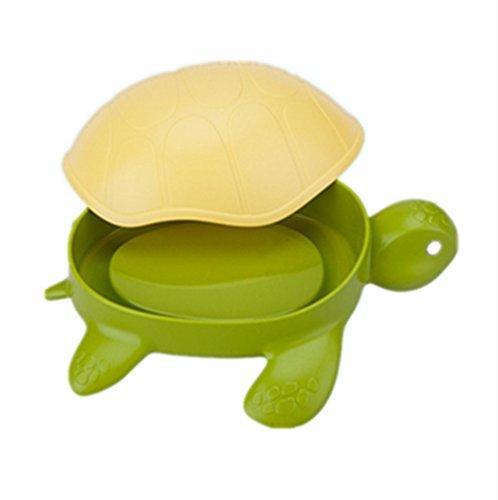 Jabonera de viaje para niños con forma de tortuga