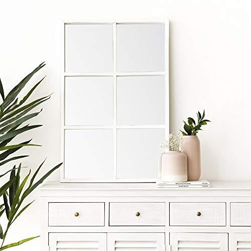 Kenay Home - Espejo Pared Soft Blanco