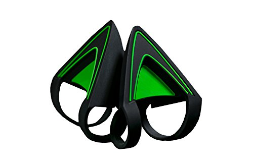 Razer Kitty Ears for Kraken Headsets: Compatible with Kraken 2019, Kraken TE Headsets - Adjustable Strraps - Water Resistant Construction - Green