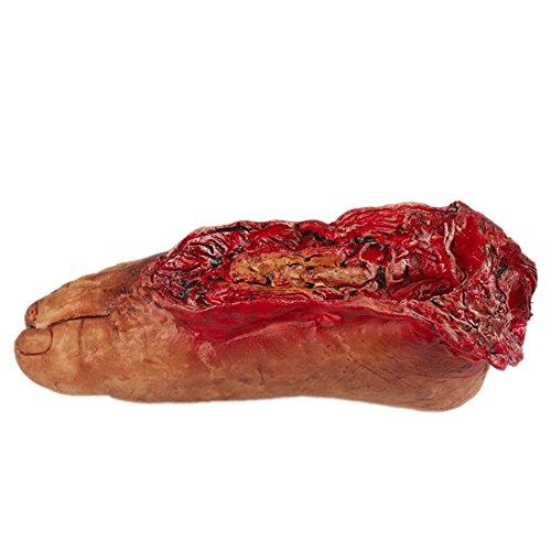 Bornbayb Halloween Horror sanguinosa realistica protesi falso braccio mozzato rotto mano piede rotto parti del corpo con la corda puntelli di halloween