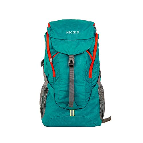 50L Lightweight Hiking Backpack Foldable Multi-Functional Travel Bag Water Resistant Casual Camping Rucksack for Men Women Outdoor Sport Mountain (Sky Blue)