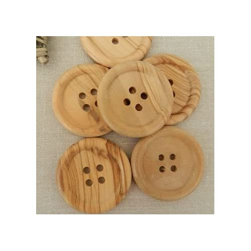 Sewing knitting 10 or 20 wooden natural//light brown buttons  3cm 4 holes