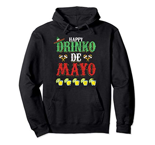Happy Drinko de Mayo Tequila Cool Cinco de Mayo Fiesta Felpa con Cappuccio