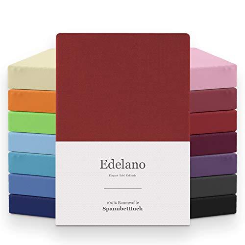 MELUNDA - Sábana Bajera Ajustable 180x200 / 200x200 cm - Rojo - 100% Algodón - Certificado Oeko-Tex® - Hipoalergénico Sin químicos
