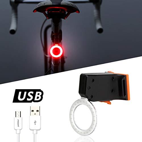 azamp Luz Trasera de Bicicleta,Luz Trasera de Bicicleta Impermeable Recargable USB Bicicleta súper Brillante luz de Advertencia de Seguridad Maximiza la Seguridad de conducción (Estilo 1)