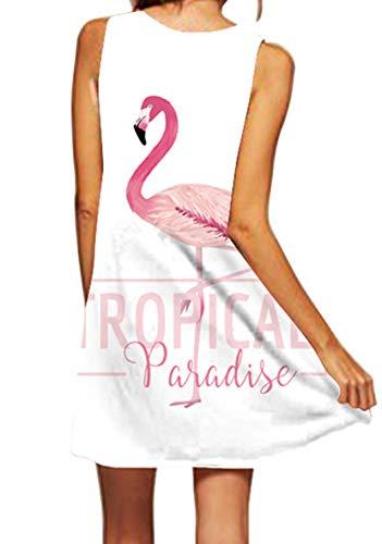Ocean Plus Mujer Verano Flamenco Camisola Vestido De Playa Top Sin Mangas Trapecio O Corte En A Vestido Oeste