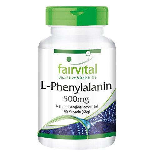 L-Fenylalanine 500 mg - HOOG GEDOSEERD - VEGAN - 90 capsules - essentieel aminozuur