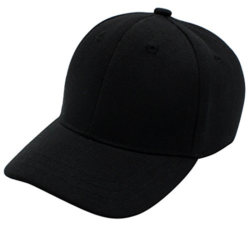 Baby Infant Baseball Cap Hat-100% Durable Sturdy Polyester Hat, BLK