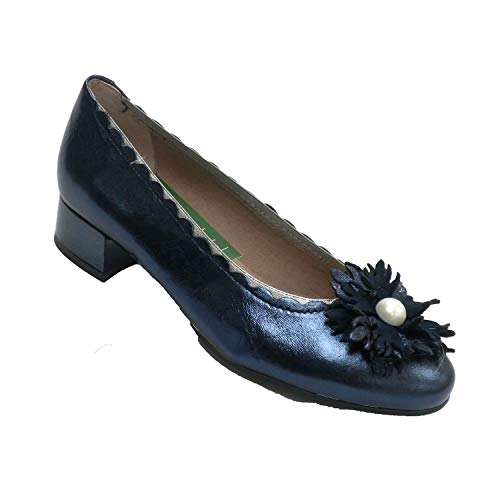 Made in Spain Volantino Femminile o Ornamento a Quadretti PitillosMS Blu Navy Taille 38 EU