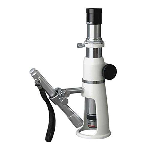 AmScope H20 Handheld Stand Measuring Microscope, 20x Magnification, 17mm Field of View, Includes Pen Light