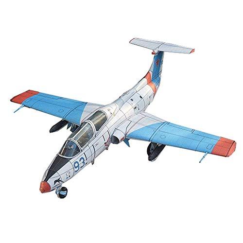 1yess Papel de los niños Juguetes Modelo Kits, Militar 1/32 Aero L-29 Adultos Juguete Y Regalo, 13Inchx12.6Inch