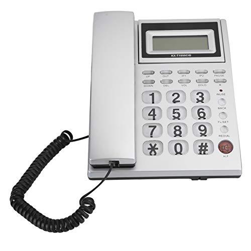 Socobeta Teléfono de escritorio con cable para altavoz para personas mayores para el hogar