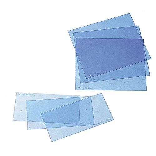 Ersatzscheiben Vorsatzscheiben für Schweißerhelm verschied. Größe VPE 10 Stck., Größe:90 x 110 mm