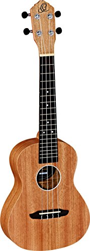Ortega Guitars RFU11S Konzert Ukulele Friends Serie Mahagoni im seidenmatten Finish mit Gigbag
