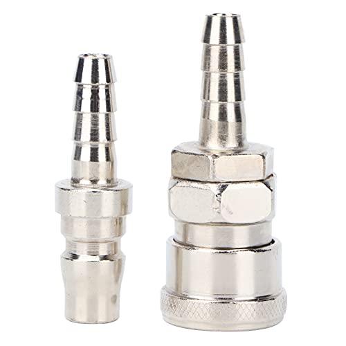 Juego de accesorios para herramientas neumáticas, diseño preciso, fácil de usar, conector de manguera rápido, conexión rápida para uso comercial, doméstico, industrial